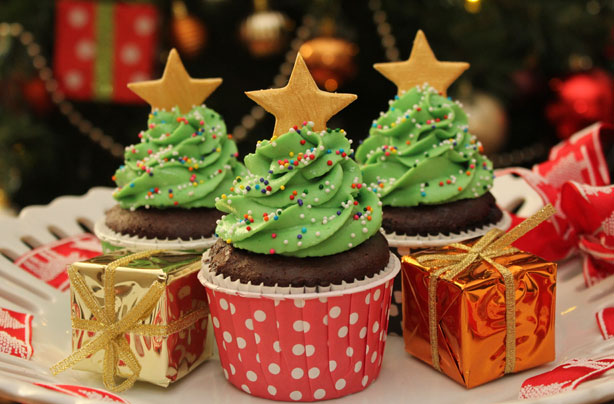 christmas tree cupcakes recipe - Christmas Cupcakes