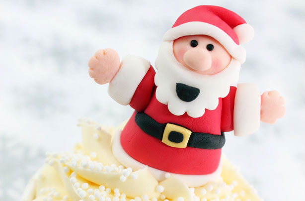 7 festive fondant cake decorations to pop on top of your christmas cake this year