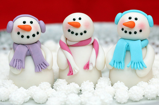 snowmen cake decorations - Christmas Cake Decorations