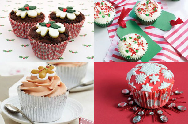 christmas cupcakes - Christmas Dessert Decorations