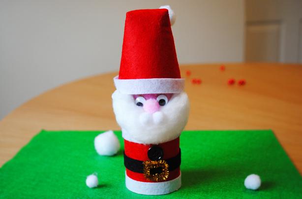 Santa Christmas Craft How To Make A Toilet Roll Santa