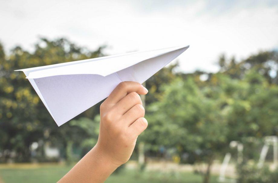 How to make a paper aeroplane