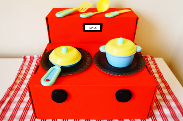 How To Make A Toy Kitchen Cardboard Box Craft
