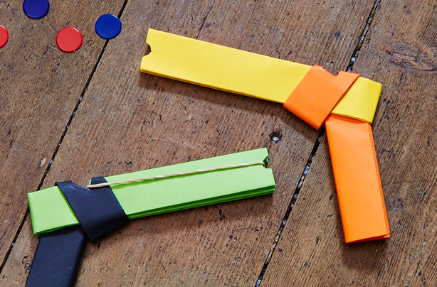 How To Make A Paper Gun That Shoots - Origami Gun - Easy Paper Gun ... | 404x614