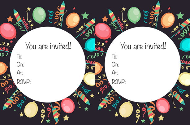 picture regarding Printable Party Invitations identify Cost-free printable childrens birthday get together invites