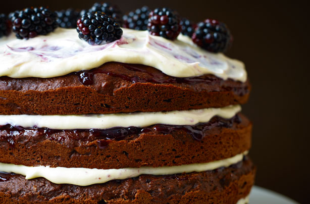 Lorraine Pascales Chocolate Guinness And Blackcurrant Cake