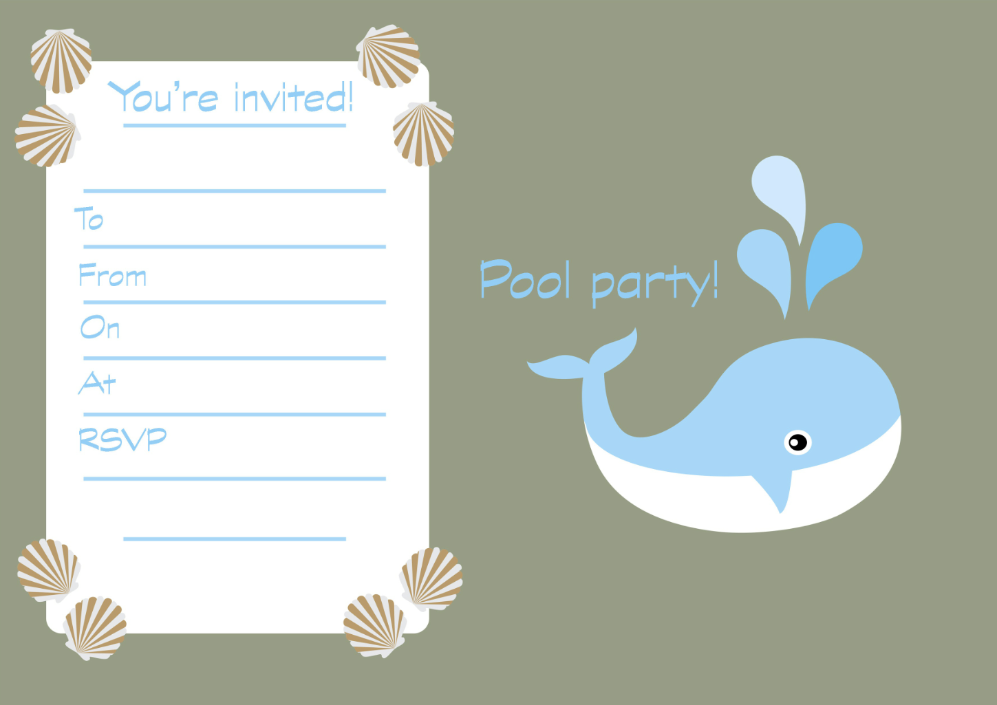 FREE printable children\'s birthday party invitations