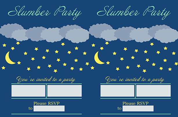 Free Printable Slumber Party Invitations Older Kids LOVE Sleepovers So Why Not Make It Seem Even More Fun By Issuing An Offical Invite