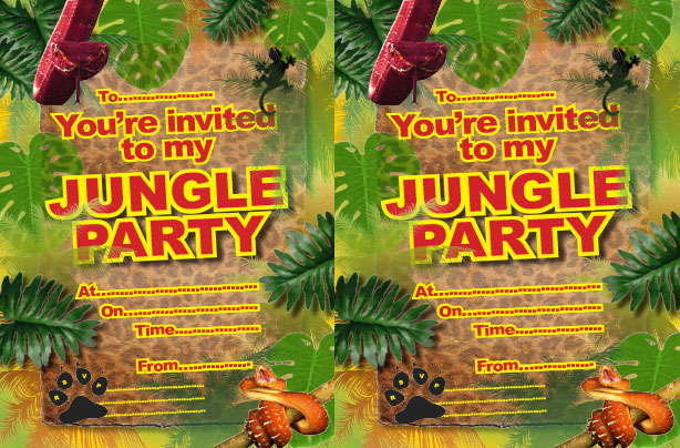 Free Printable Jungle Party Invitations