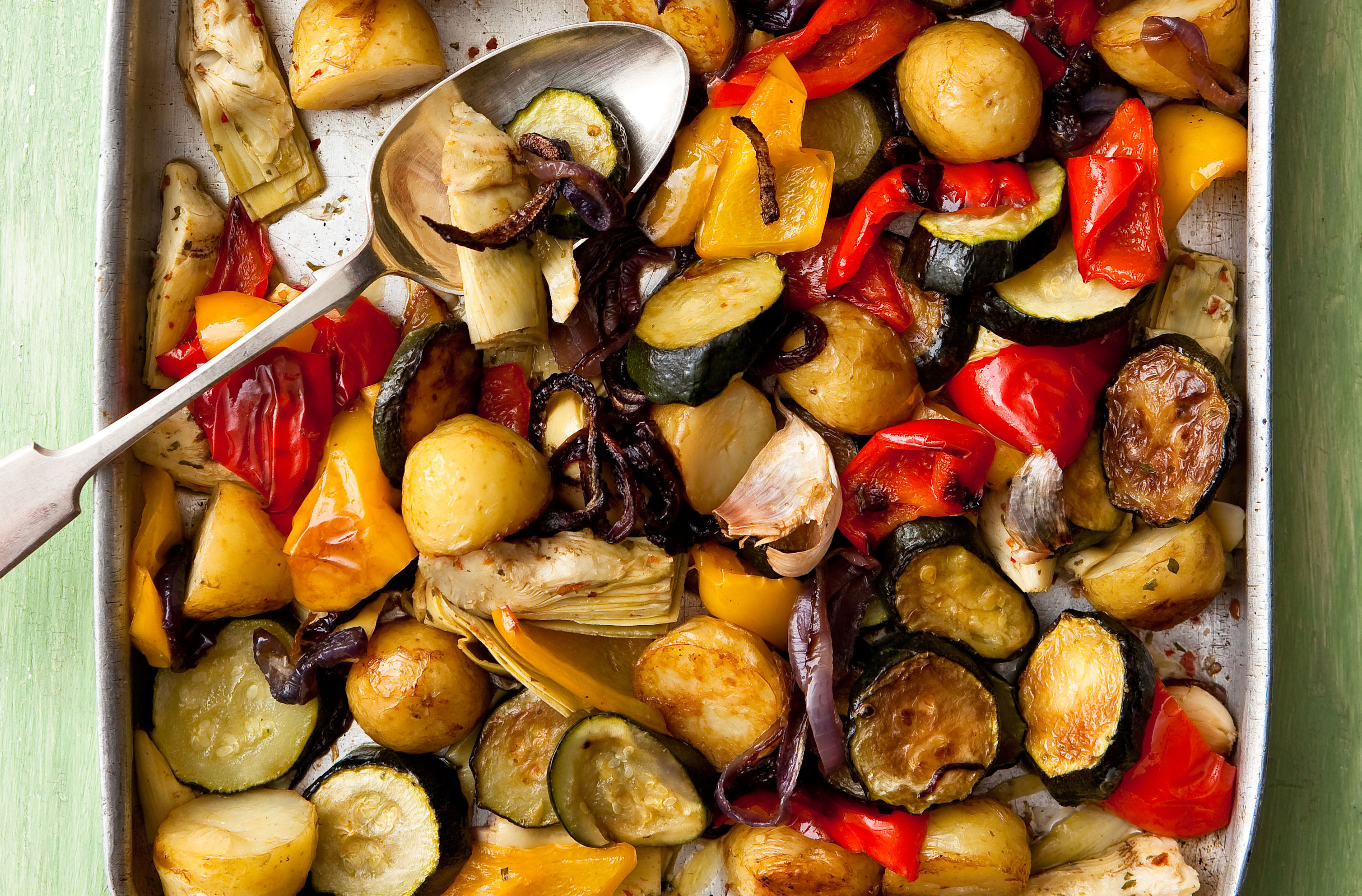 Roasted Mediterranean Vegetables  Italian Recipes  GoodtoKnow