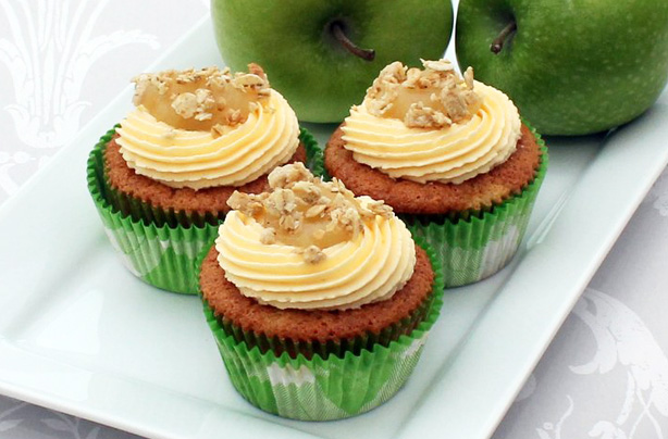 Apple crumbles with a twist