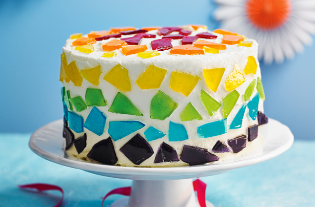 Stained Glass Fruit Cake