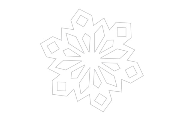 print out our traditional snowflake template design