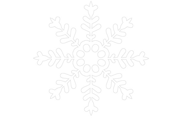 snowflake template designs to print