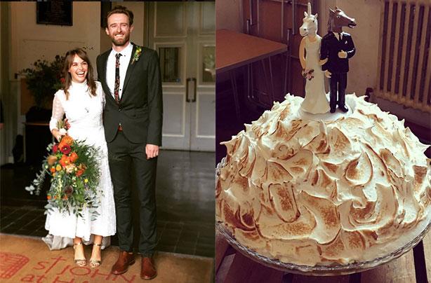 Great British Bake Off S Iain Watters Chooses Infamous Baked Alaska As His Wedding Cake