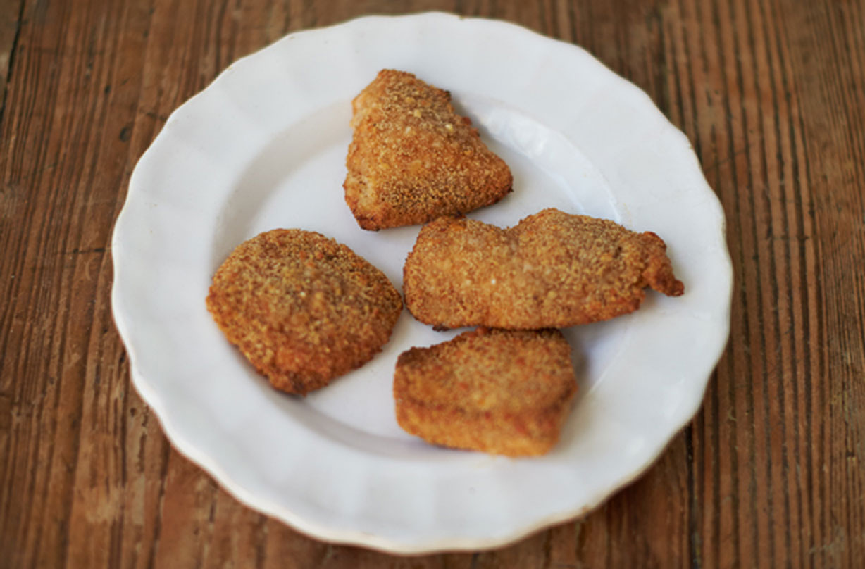 Jamie Oliver S Proper Chicken Nuggets Sweet Paprika Parmesan Crumb Dinner Recipes Goodtoknow