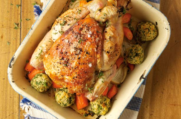 Roast Chicken With Lemon And Parsley Stuffing Recipe