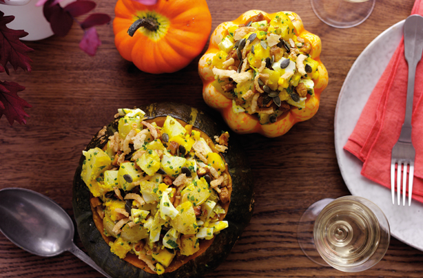 Try this this warm squash and potato salad that makes the most of autumnal ingredients