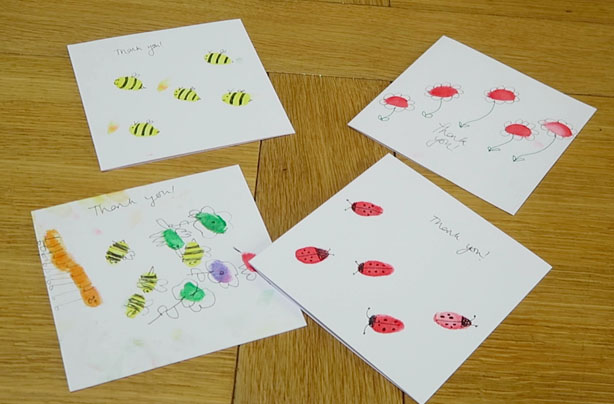kids kitchen homemade kids thank you cards