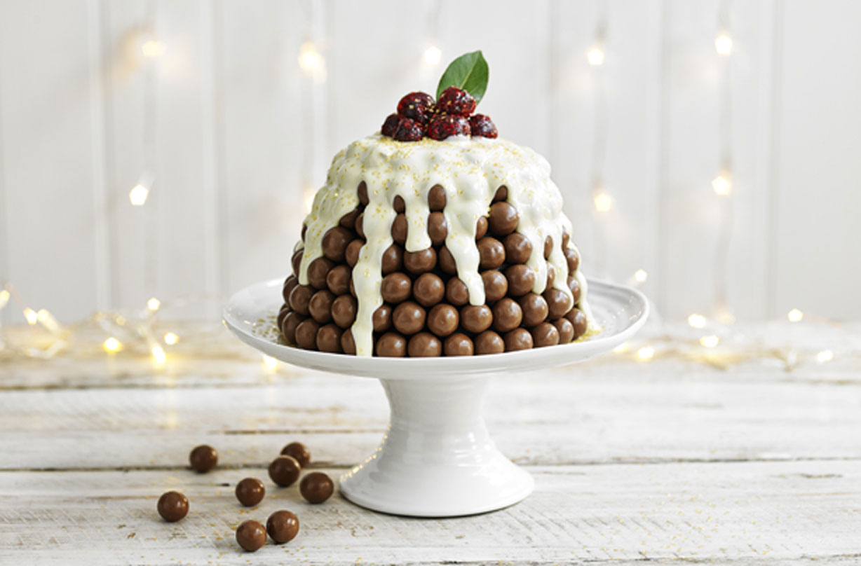 Maltesers Christmas Pudding Dessert Recipes Goodtoknow