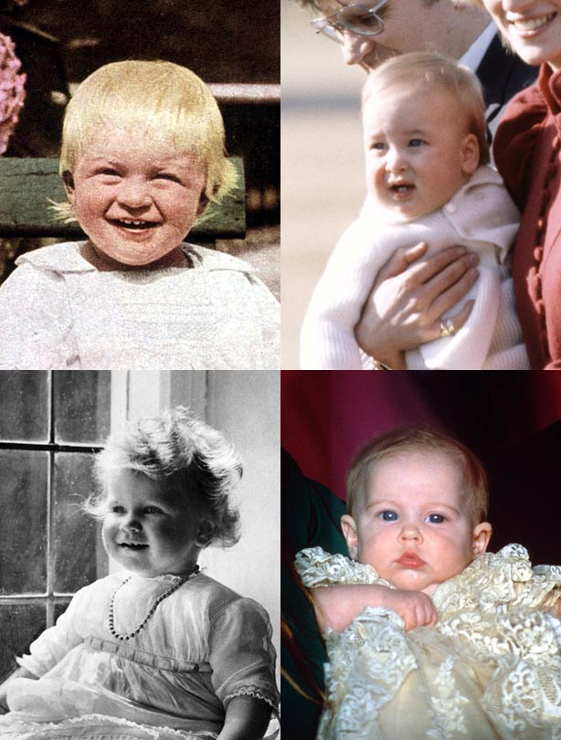 The royals as babies