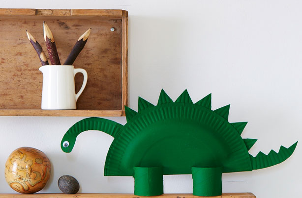 & How to make a paper dinosaur