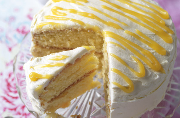 Light Lemon Sponge Cake Recipes: Lemon Curd Cake Recipe