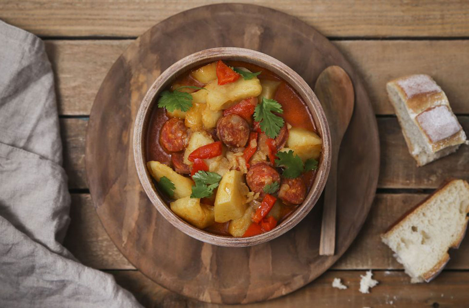 Spanish Style Potato And Chorizo Soup