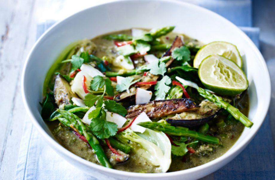 Thai Green Prawn Curry With Broccoli