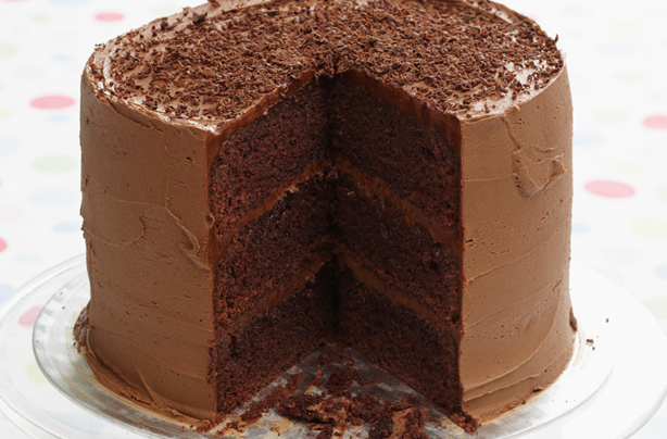 Dark Chocolate Cake With Orange Filling