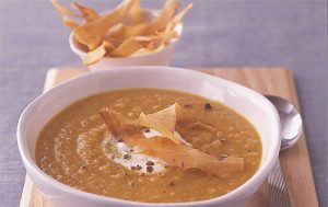 Spiced carrot, parsnip and swede soup