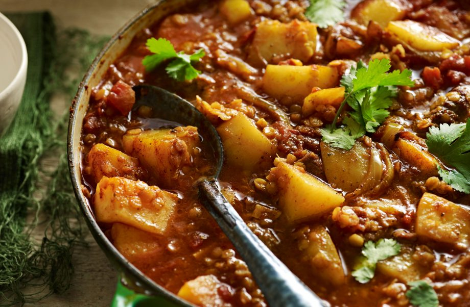 Moroccan Red Lentil And Lamb Stew