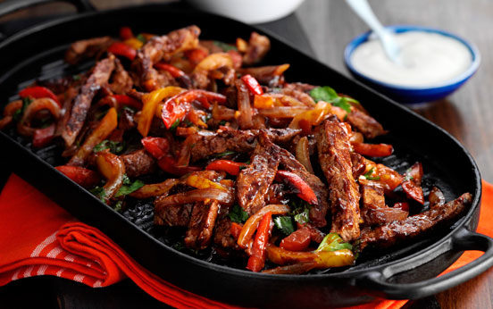 Low calorie meals 160 family dinners under 500 calories goodtoknow beef fajitas forumfinder Image collections