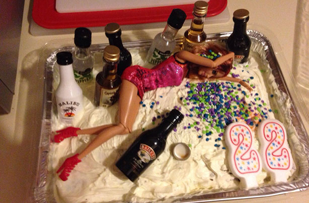 Prime 19 Drunk Barbie Cakes That Will Make You Glad You Have To Stay In Funny Birthday Cards Online Inifofree Goldxyz