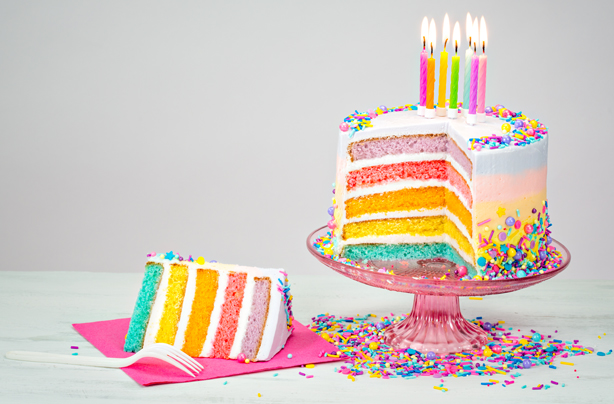 Rainbow Sheet Cake Recipe