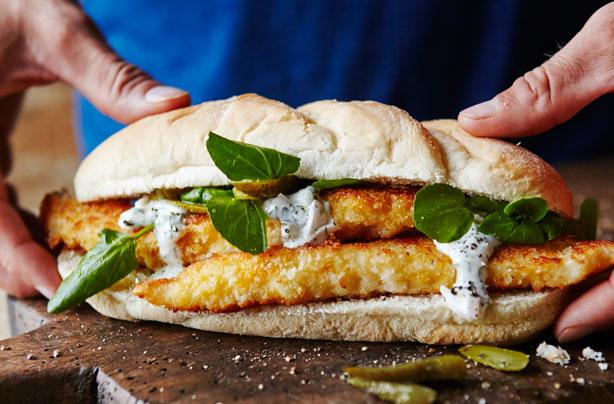 Dinner ideas for two: Joe Wicks' fish finger sandwich