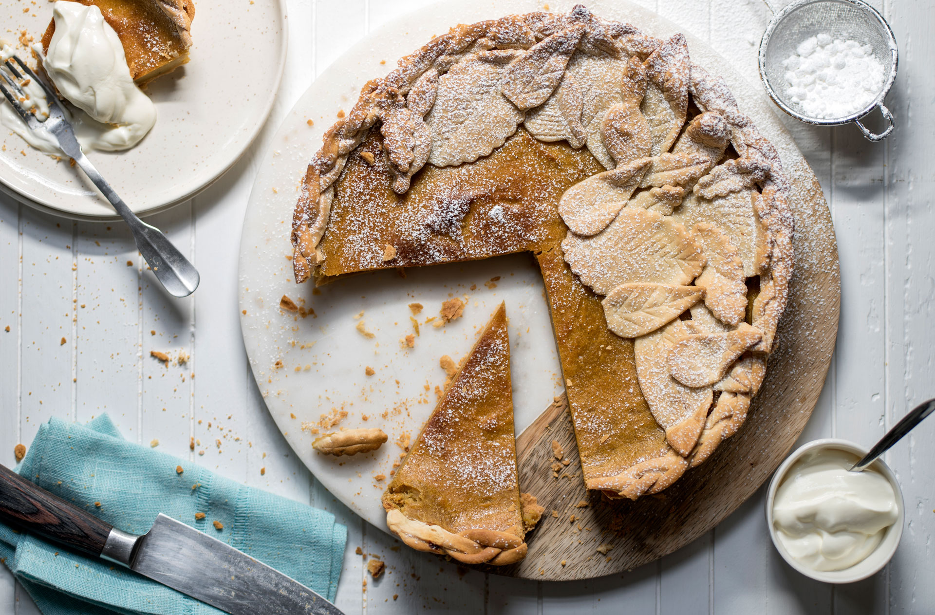 Try this sweet potato pie that's a deliciously spiced autumnal dessert