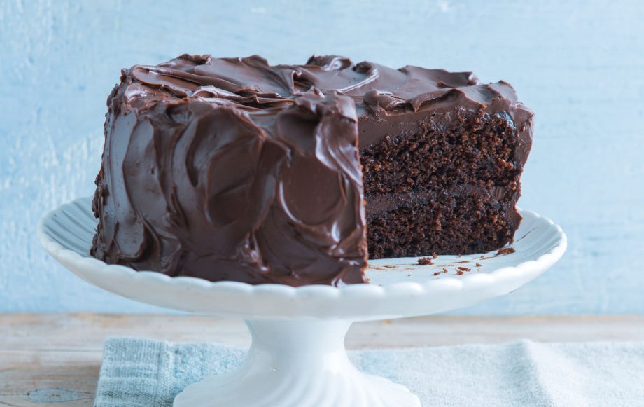 Chocolate sponge cake made with vegetable oil