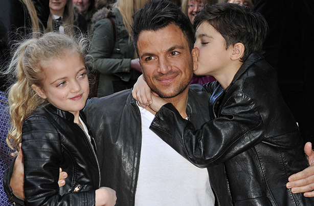 Peter andre bans his children junior and princess from social media mandatory credit photo by can nguyenrexshutterstock 3541770e princess tiaamii peter andre and junior mr peabody and sherman 3d vip gala screening m4hsunfo
