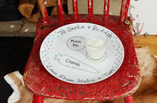 & Homemade Santa plate