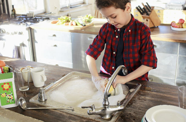 get your kids to do chores while they're young and they