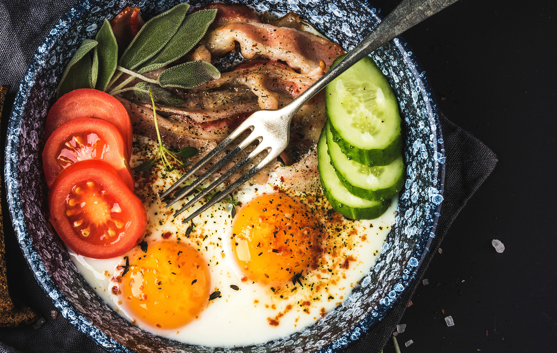 High protein breakfast: Healthy full English