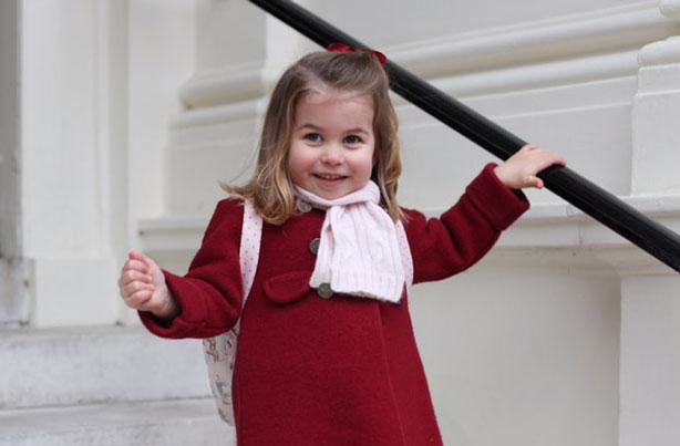 Princess Charlotte going to nursery January 2018