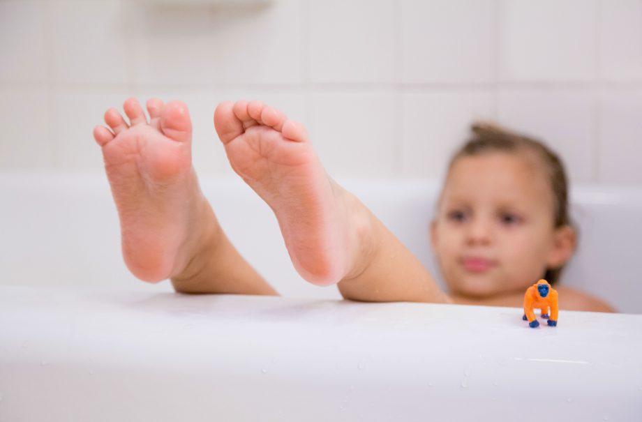 Kid in a bath
