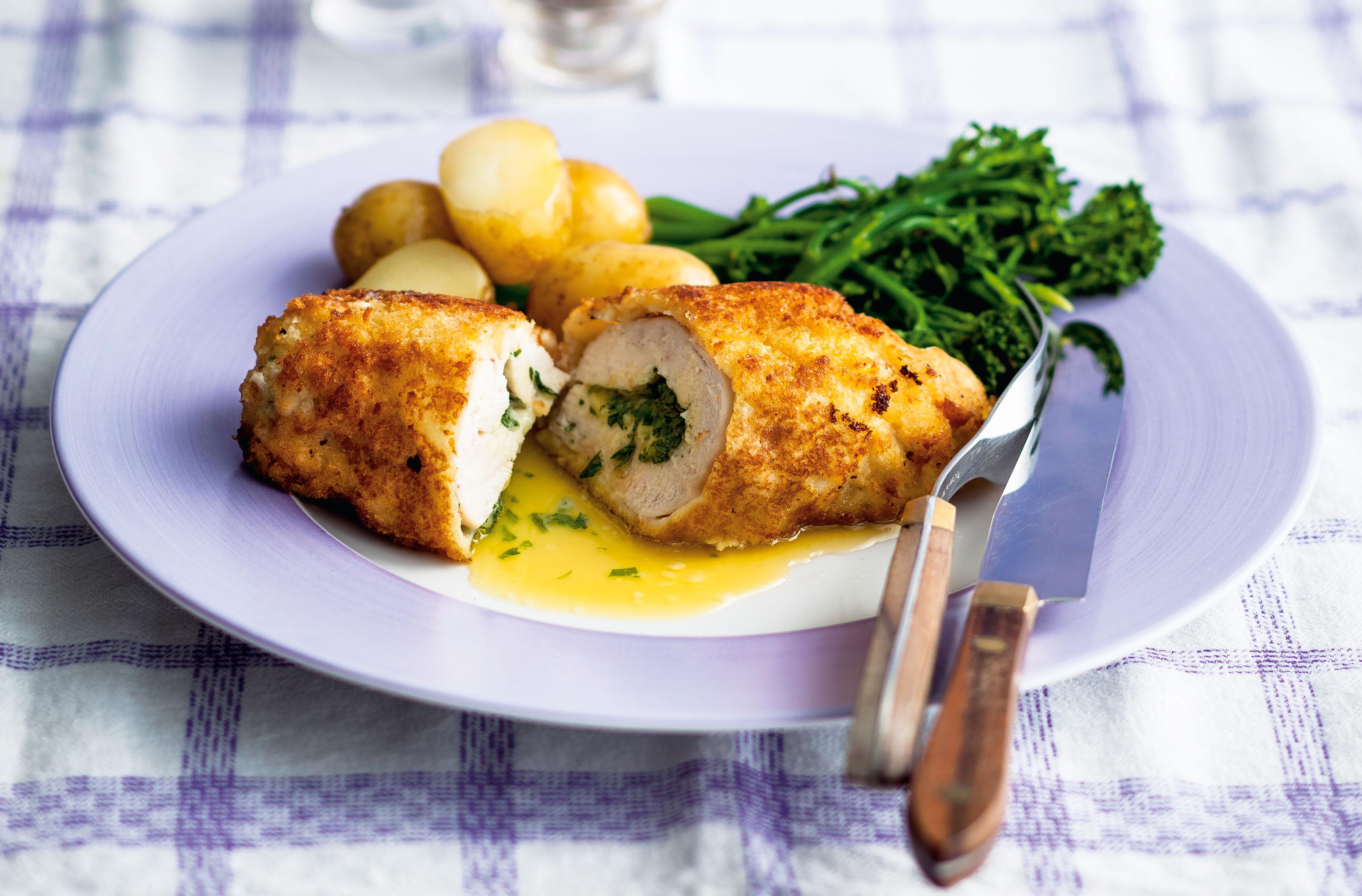 Easy Chicken Kiev Recipes Goodtoknow