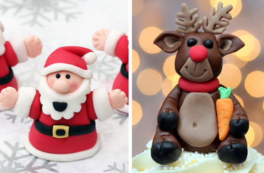 fondant christmas cake decorations