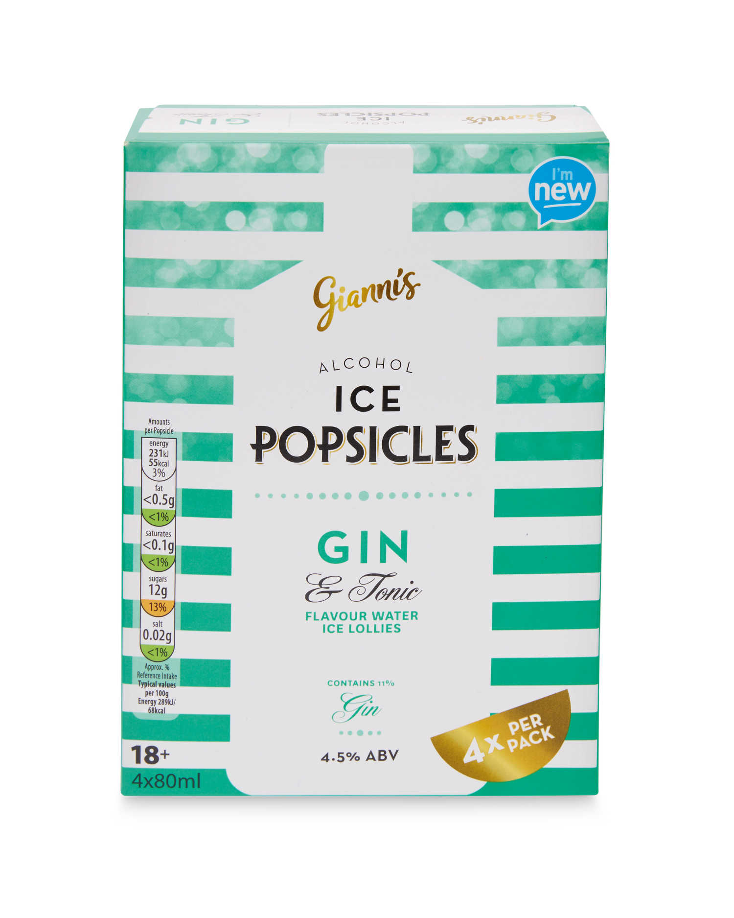 Aldi Gin and tonic Popsicle