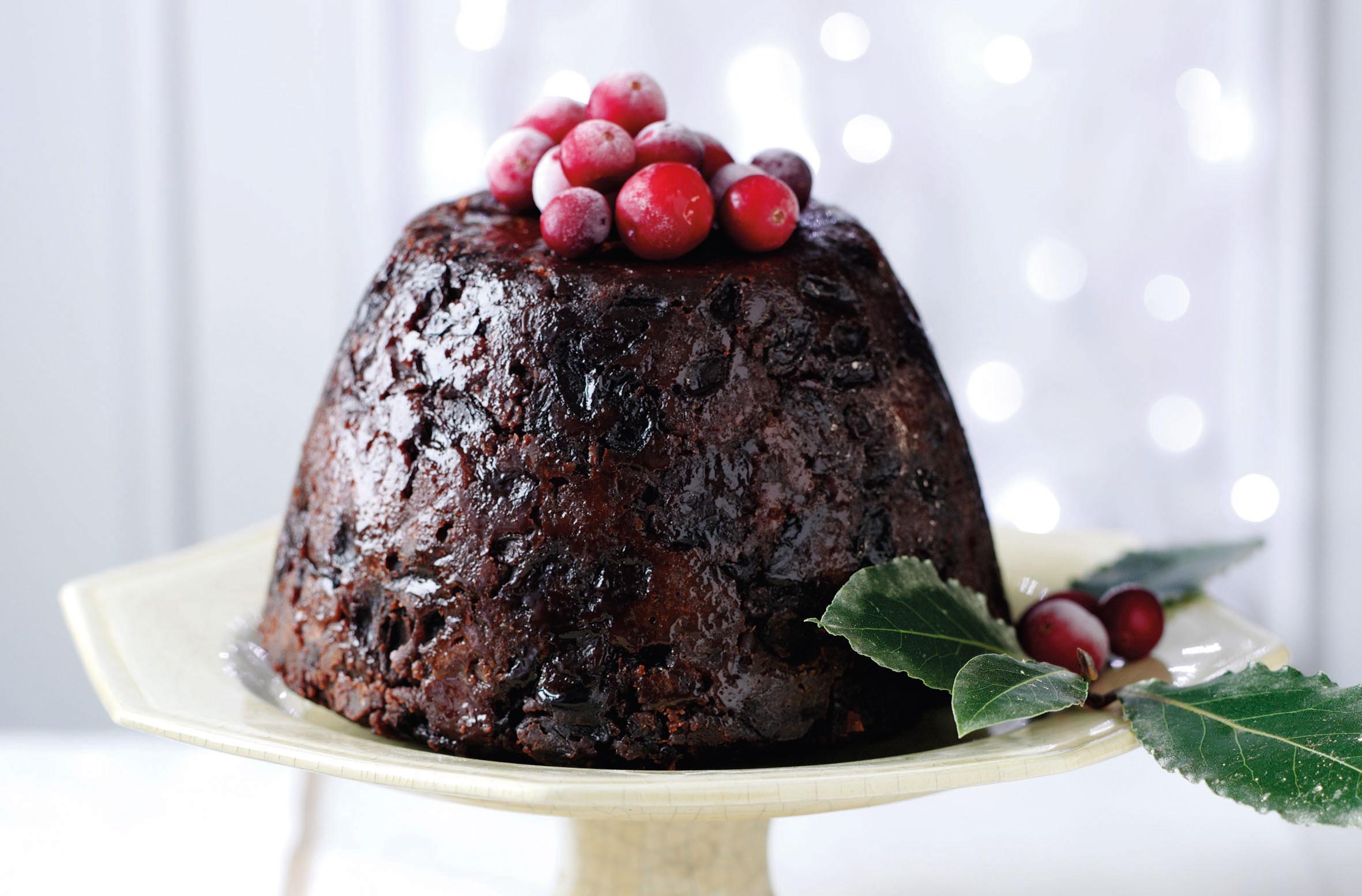 Christmas Dessert.Gluten Free Christmas Pudding