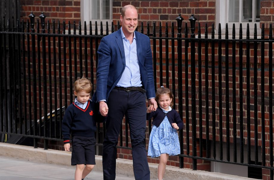 Prince George and Princess Charlotte meet their new royal baby brother