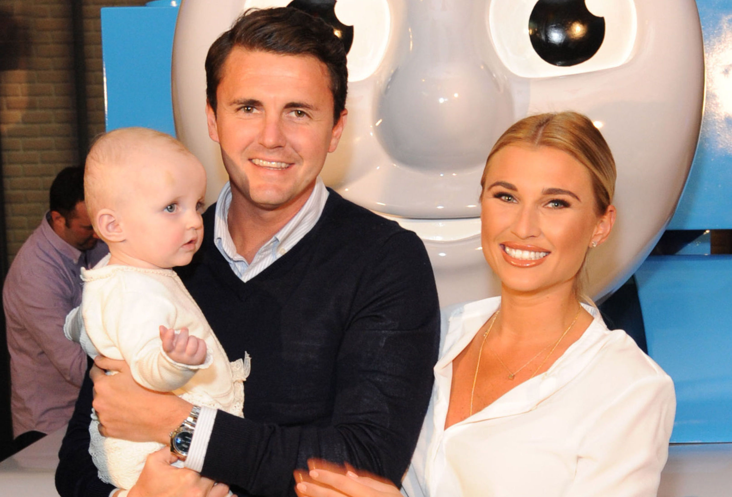 Billie Faiers with her fiance Greg and their daughter Nellie